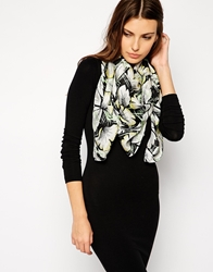 French Connection Printed Scarf Blackmulti