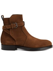 Pierre Hardy Buckle Detailing Ankle Boots Brown