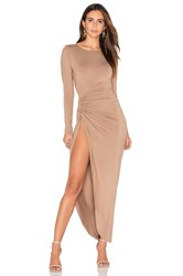 Lioness Amore Split Maxi Dress Tan