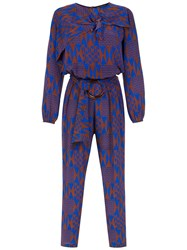 Andrea Marques Printed Silk Jumpsuit Multicolour
