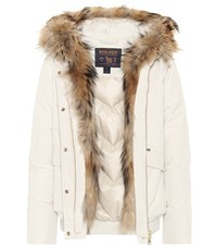 Woolrich Military Fur Trimmed Coat White
