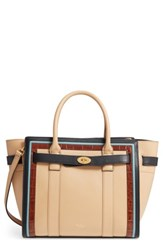Mulberry Small Bayswater Leather Satchel Black Black Tan Multi