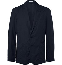 Tomas Maier Blue Riviera Slim Fit Cotton Blazer Navy