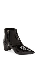 Nine West 'Wasabi' Pointy Toe Bootie Women Black Faux Leather