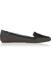 Charles Philip Inna Polka Dot Canvas Point Toe Flats