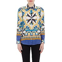 Philosophy Di Alberta Ferretti Women's Ornate Silk Blouse No Color