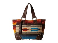 Sts Ranchwear The Sabrina Serape Shopper Tote Blue Multi Serape Blanket Tote Handbags