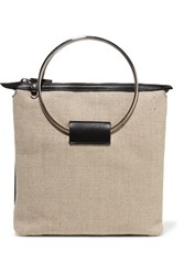 Little Liffner Ring Canvas And Leather Tote Black
