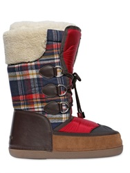 Dsquared2 Plaid Flannel And Nylon Snow Boots