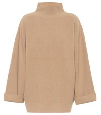 A.P.C. Wool And Cashmere Turtleneck Sweater Beige