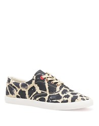 Bucketfeet Giraffe Lace Up Canvas Sneakers Blue