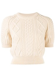 Chanel Vintage Cable Knit Jumper White