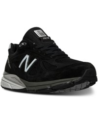 New Balance Men's 990 V4 Wide Running Sneakers From Finish Line Black Silver