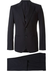 Dolce And Gabbana Formal Three Piece Suit Blue