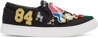 Marc Jacobs Black Embroidered Mercer Sneakers
