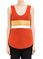 Proenza Schouler Honeycomb Tank Top Orange