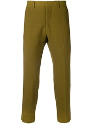 Ami Alexandre Mattiussi Cropped Fit Trousers Green