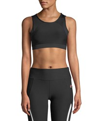 X By Gottex Mesh Back Sports Bra Black