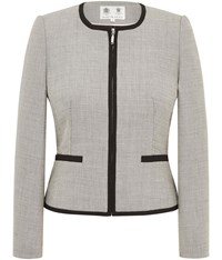 Austin Reed Monochrome Stitch Jacket Grey