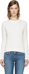 Rag And Bone White Knit Open Back Sweater