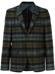 Golden Goose Deluxe Brand Plaid Blazer Green