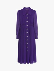 Lk Bennett L.K.Bennett Fozette Pleated Shirt Dress Violet