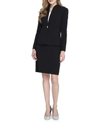 Tahari By Arthur S. Levine Two Piece Skirt Suit Set Black