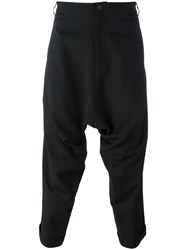 Army Of Me Drop Crotch Cropped Trousers Black