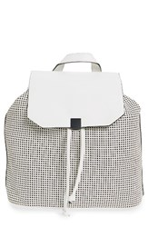 Phase 3 Perforated Faux Leather Backpack White
