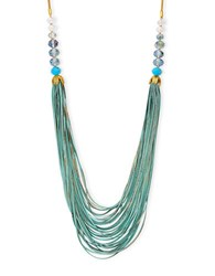 Lonna And Lilly Adjustable Multi Row Beaded Necklace Green