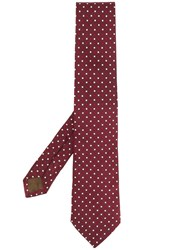 Church's Square Embroidery Tie Red