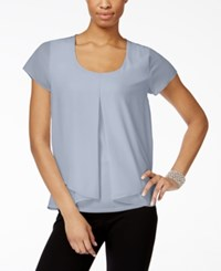 Ny Collection Pleated Popover Top