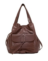 Sanctuary Laurel Canyon Leather Drawstring Tote Chocolate