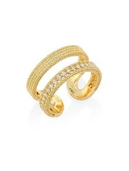 Roberto Coin Double Symphony Diamond And 18K Yellow Gold Ring