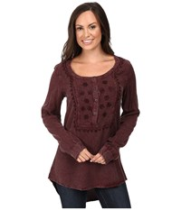 Scully Honey Creek Maddie Tunic Aubergine Women's Clothing Purple