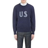 Visvim Men's Us Graphic Sweatshirt Navy