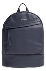 Want Les Essentiels Men's 'Kastrup' Leather Backpack Blue Navy