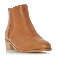 Dune Pearce Pointed Toe Leather Chelsea Boots Tan