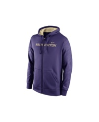 Nike Men's Washington Huskies Warp Ko Full Zip Hoodie Purple