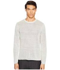 Vince Raw Edge Long Sleeve Crew Neck Sweater Heather Steel Men's Sweater Pink
