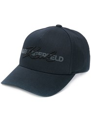 Karl Lagerfeld Embroidered Signature Logo Cap 60