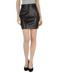 Gai Mattiolo Leather Skirts Black