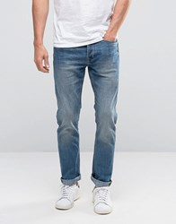 New Look Slim Jeans In Mid Wash Blue Mid Blue