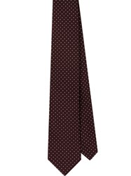 Prada Jacquard Pinpoint Patterned Tie Red