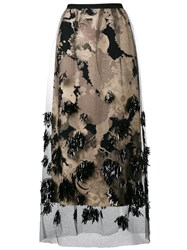 Dries Van Noten Schiller Embellished Skirt Black