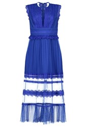 Three Floor Beautify Occasion Wear Sapphire Blue