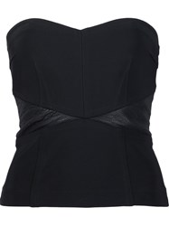 Yigal Azrouel 'Combo' Strapless Bustier Black