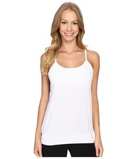 Beyond Yoga Sleek Stripe Back Mesh Tank Top White Women's Sleeveless