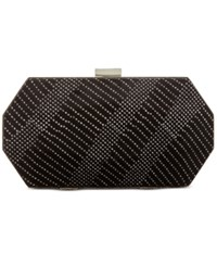 Inc International Concepts Geo Velvet Clutch Only At Macy's Black