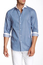 Brio Striped Long Sleeve Contemporary Shirt Multi